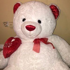 White giant teddy bear